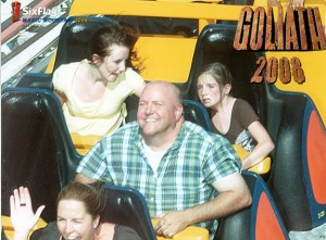 Andi looking like she\'ll die riding Goliath